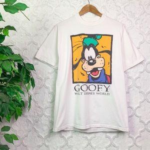 Vintage Walt Disney World Goofy Graphic Tee Shirt